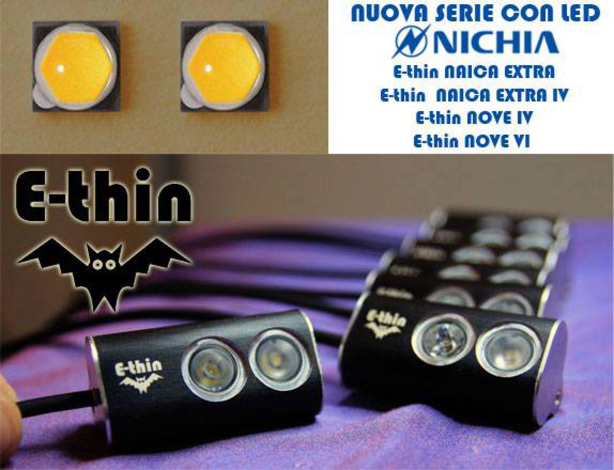 Ecco la nuova serie di lampade E-thin!